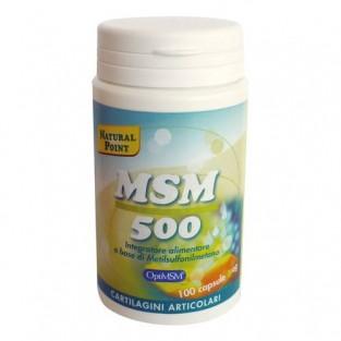 MSM 500 Natural Point - 100 Capsule vegetali