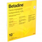 Betadine 10% Garze Impregnate 10 x 10 cm