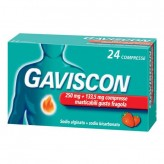 Gaviscon 250+133,5 mg/10 ml - 24 Compresse gusto Fragola