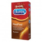 Durex Real Feel - 4 preservativi
