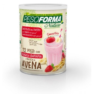 Smoothie con Fragola e Banana Pesoforma Nature