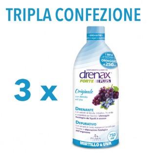 Tripla Confezione di Drenax Forte Plus Mirtillo e UVa
