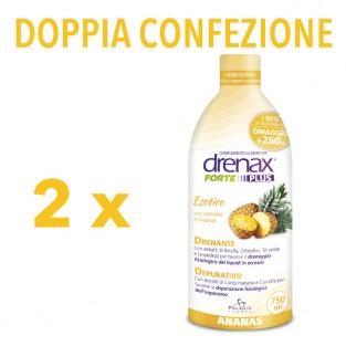Doppia Confezione di Drenax Forte Plus Esotico gusto Ananas