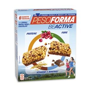 Barrette Pesoforma BeActive con Cereali Mirtilli Rossi e Cioccolato