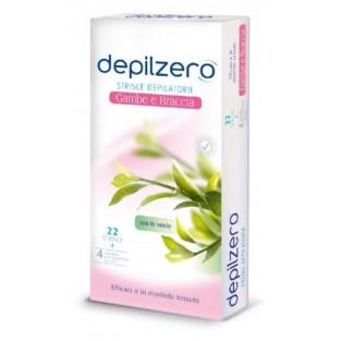 Strisce depilatorie per gambe e braccia Depilzero - 22 pezzi