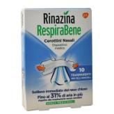 Rinazina RespiraBene Cerotti Nasali Adulti Pelli Sensibili Trasparenti - 10 Bretelline