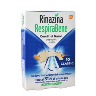 Rinazina RespiraBene Cerotti Nasali Adulti Pelli Normali - 10 Bretelline