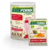 Pesoforma Smoothie Fragola e Banana + Integratore Curcuma Nature