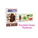 Pacchetto Promo Pesoforma Barrette ai 3 Cioccolati + Flaconcini Detox