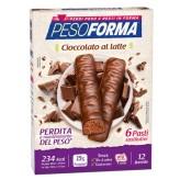 Barrette al cioccolato al latte Pesoforma - 6 pasti