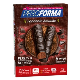 Barrette Pesoforma al Cioccolato Fondente Amabile - 6 pasti