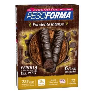 Barrette Pesoforma al Cioccolato Fondente Intenso - 6 pasti