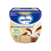 Merenda gusto latte e cacao Mellin - 2 vasetti