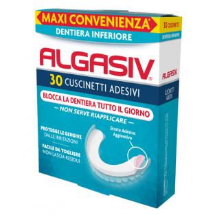 Algasiv Dentiera Inferiore - 30 Cuscinetti Adesivi