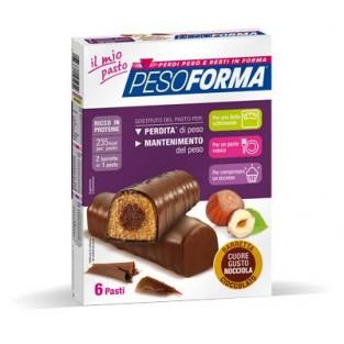 Barrette al Cioccolato con Cuore di Nocciola Pesoforma - 6 pasti