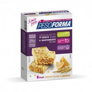 Barrette Pesoforma gusto Cereali e Arancia - 6 pasti
