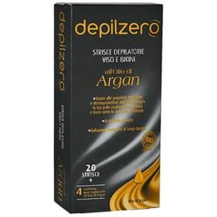 Strisce depilatorie per viso e bikini all'olio di Argan Depilzero - 20 pezzi