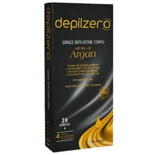 Strisce depilatorie per il corpo all'olio di Argan Depilzero - 20 pezzi