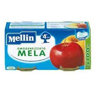 Omogeneizzato alla mela Mellin 4M+ - 2 vasetti