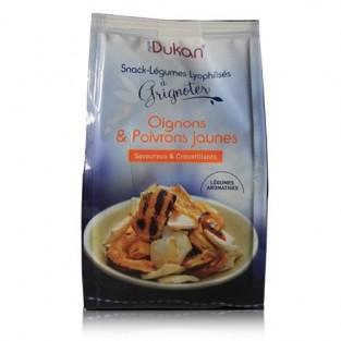 Snack alle verdure liofilizzate Dukan gusto cipolle e peperoni gialli