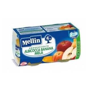 Omogeneizzato con albicocca banana mela Mellin