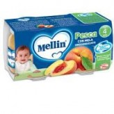 Omogeneizzato al gusto pesca e mela Mellin