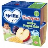 Fruttapura Mellin gusto mela e prugna - 4 vasetti