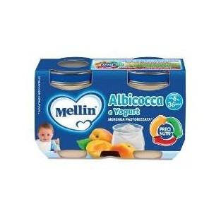 Merenda allo yogurt e albicocca Mellin - 2 vasetti