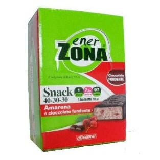 Barrette amarena e cioccolato fondente Enerzona - 30 pezzi