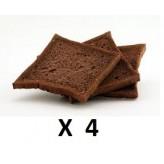 Toast Ciao Carb al cacao - 4 pezzi