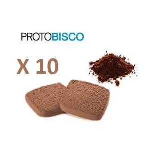Protobisco Ciao Carb al cacao - 10 pezzi