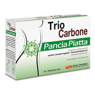 Trio Carbone Pancia Piatta - 10+10 bustine
