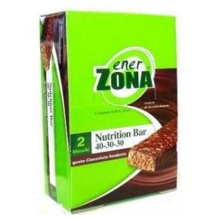 Barrette al cioccolato fondente Enerzona Nutrition bar - 20 pezzi