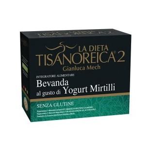 Bevanda Tisanoreica 2 al gusto di Yogurt Mirtilli - 4 buste