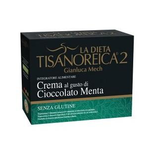 Crema Tisanoreica 2 al gusto di Cioccolato e Menta - 4 buste