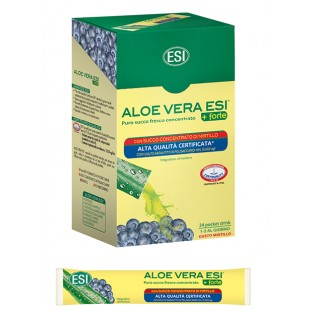 Esi Aloe Vera Succo +Forte al Mirtillo - 24 Pocket Drink