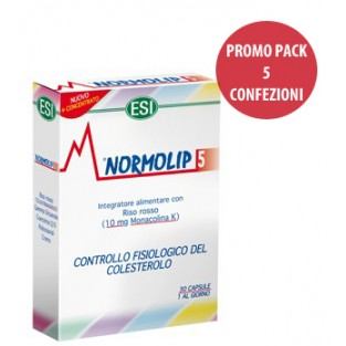 Cinque Confezioni di Normolip 5 Esi da 30 capsule