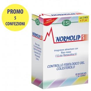 Cinque Confezioni di Normolip 5 Esi da 60 capsule
