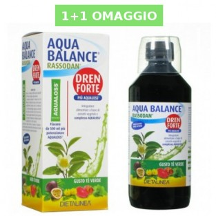 Aqua Balance Drenante Forte gusto Tè Verde: 1+1 GRATIS