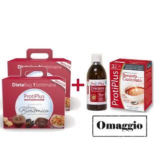 Pack Protiplus: Doppia Bag Bioritmica + Bevanda al Cioccolato e Integratore Drenante OMAGGIO