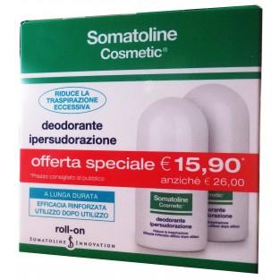 Doppia Confezione Promo Deodorante Ipersudorazione Roll-on Somatoline