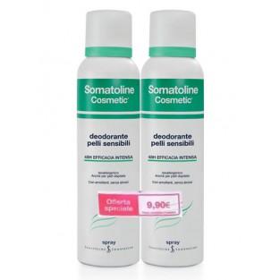 Promozione Somatoline: Doppia confezione di Deodorante Spray per pelli sensibili