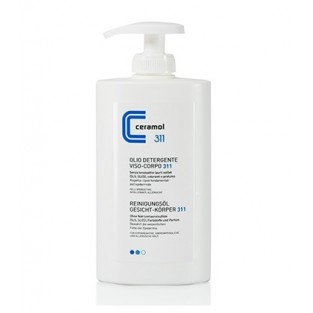 Olio detergente per viso e corpo Ceramol - 400 ml