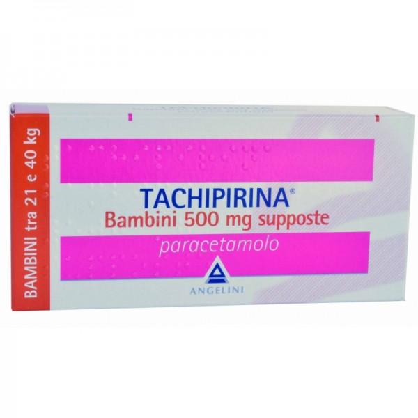 Tachipirina 10 supposte bambini 500 mg for Tachipirina per raffreddore