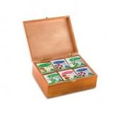 Confezione Regalo in Legno con Tè Assortiti - 60 filtri