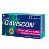 Gaviscon 500+267 mg/10 ml - 24 Compresse gusto Menta