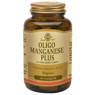 Oligo Manganese Plus Solgar- 100 tavolette
