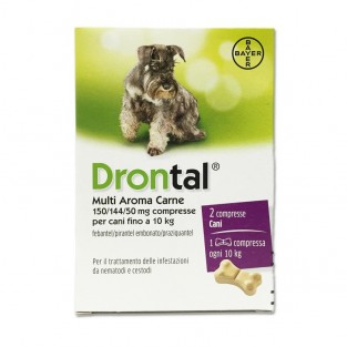 Drontal Multi Aroma Carne per Cani - 2 Compresse