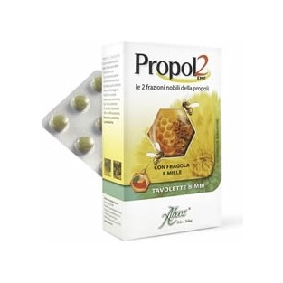 Propol2 Aboca Bambini e Adulti Fragola e Miele - 45 Tavolette