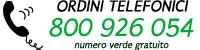 Numero verde per ordini telefonici